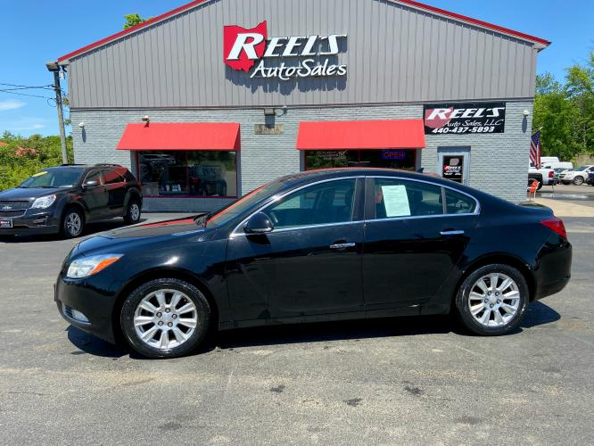 2013 Black Buick Regal Premium 1 (2G4GS5ER9D9) with an 2.4L L4 DOHC 16V engine, 6-Speed Automatic transmission, located at 547 E. Main St., Orwell, OH, 44076, (440) 437-5893, 41.535435, -80.847855 - Photo #0