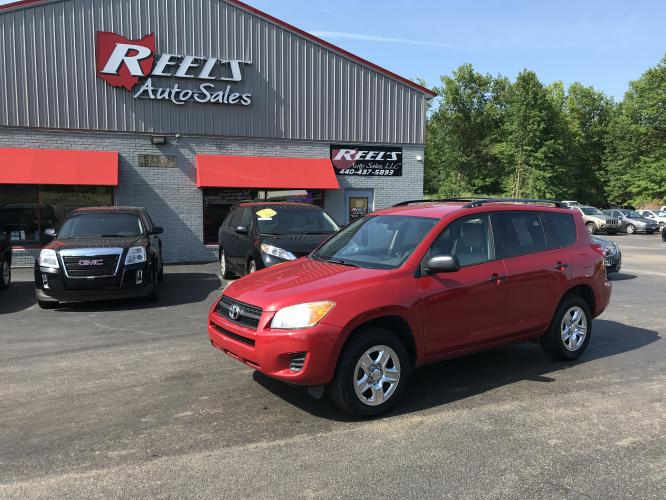 2011 Red /Gray Toyota RAV4 I4 4WD (2T3BF4DV9BW) with an 2.4L L4 DOHC 16V engine, Automatic transmission, located at 547 E. Main St., Orwell, OH, 44076, (440) 437-5893, 41.535435, -80.847855 - Photo #0