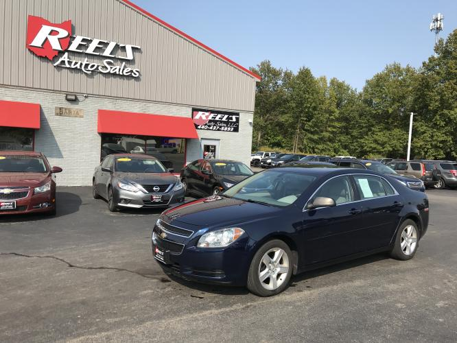 2011 Blue /Gray Chevrolet Malibu LS (1G1ZB5E12BF) with an 2.4L L4 DOHC 16V engine, 4-Speed Automatic transmission, located at 547 E. Main St., Orwell, OH, 44076, (440) 437-5893, 41.535435, -80.847855 - Photo #0