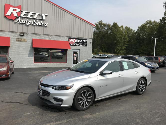 2017 Silver /Gray Chevrolet Malibu 1LT (1G1ZE5ST2HF) with an 1.5L L4 DOHC 16V engine, Automatic transmission, located at 11115 Chardon Rd. , Chardon, OH, 44024, (440) 214-9705, 41.580246, -81.241943 - Photo #0