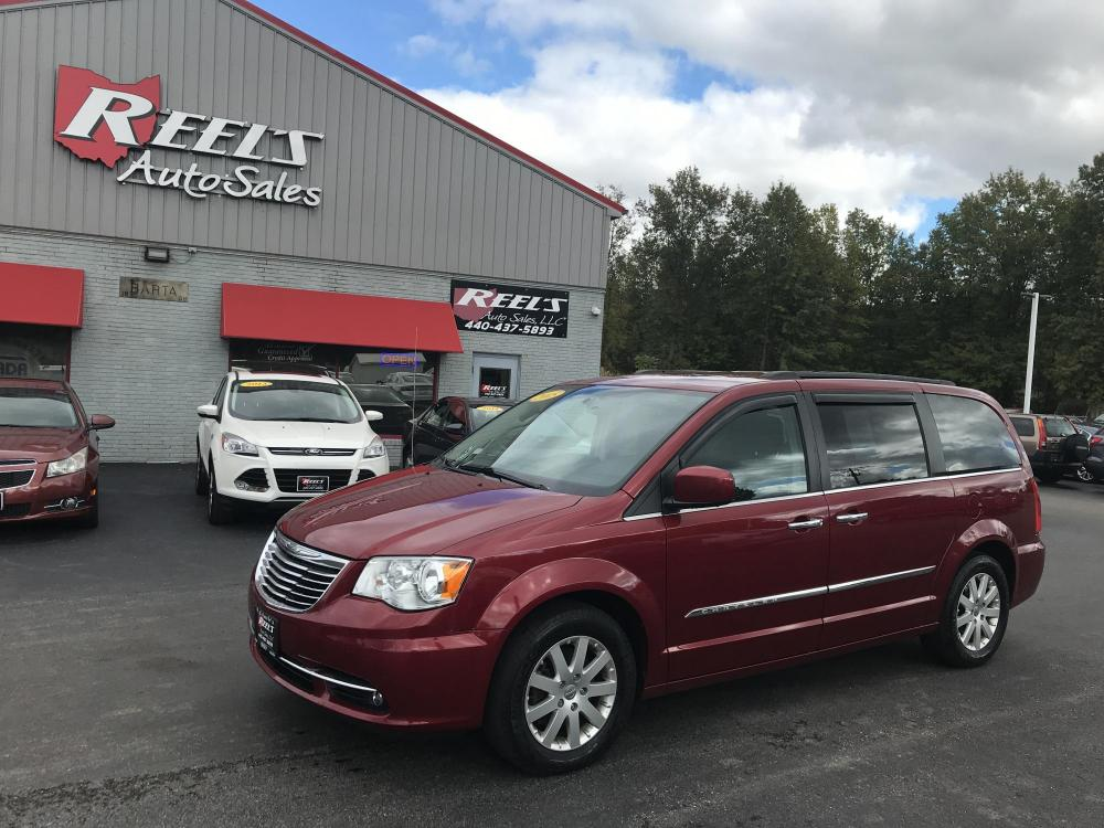 2015 Red /Black/Tam Chrysler Town & Country Touring (2C4RC1BG4FR) with an 3.6L V6 DOHC 24V engine, 6-Speed Automatic transmission, located at 547 E. Main St., Orwell, OH, 44076, (440) 437-5893, 41.535435, -80.847855 - Photo #0