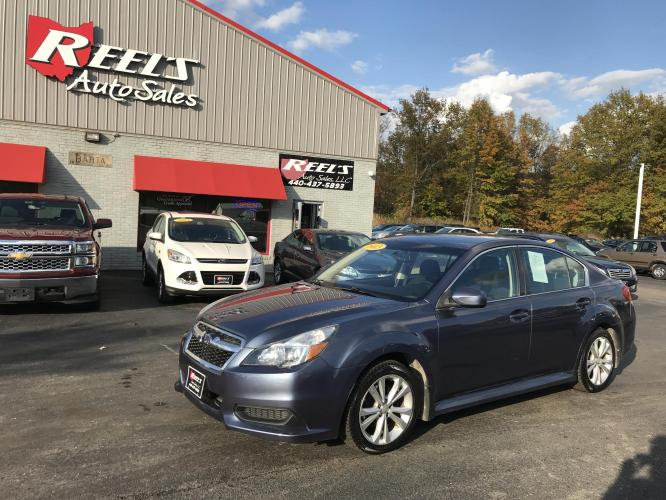 2013 Blue /Black Subaru Legacy 2.5i Premium (4S3BMCC64D3) with an 2.5L H4 SOHC 16V engine, Automatic transmission, located at 547 E. Main St., Orwell, OH, 44076, (440) 437-5893, 41.535435, -80.847855 - Photo #0