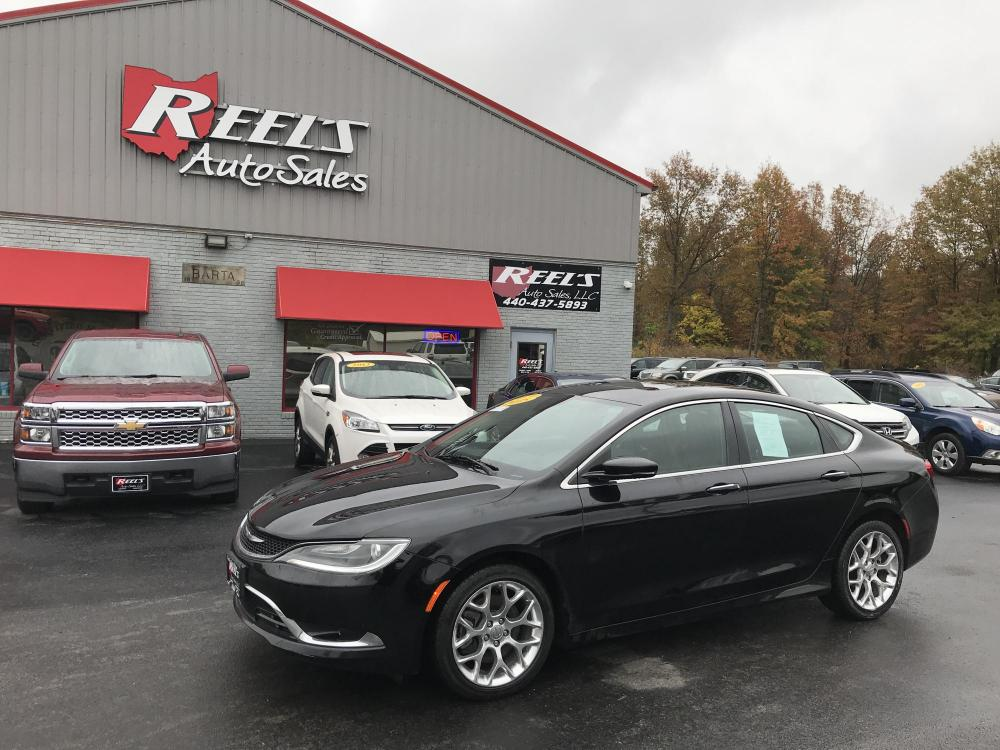 2015 Black /Black Chrysler 200 C AWD (1C3CCCEG8FN) with an 3.6L V6 DOHC 24V FFV engine, 9-Speed Automatic transmission, located at 547 E. Main St., Orwell, OH, 44076, (440) 437-5893, 41.535435, -80.847855 - Photo #0