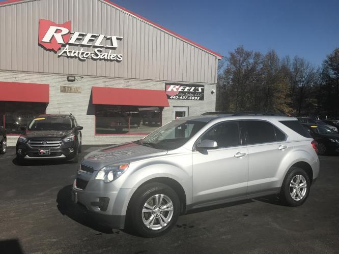 2013 Silver /Black Chevrolet Equinox 1LT 2WD (2GNALDEK1D6) with an 2.4L L4 DOHC 16V engine, 6-Speed Automatic transmission, located at 547 E. Main St., Orwell, OH, 44076, (440) 437-5893, 41.535435, -80.847855 - Photo #0
