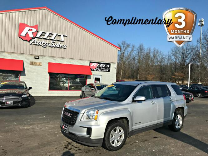 2016 /Black GMC Terrain SLE2 AWD (2GKFLSEK1G6) with an 2.4L L4 DOHC 16V engine, Automatic transmission, located at 547 E. Main St., Orwell, OH, 44076, (440) 437-5893, 41.535435, -80.847855 - Photo #0
