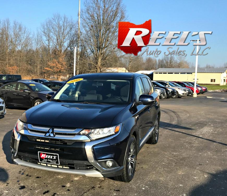 2016 /Black Mitsubishi Outlander SE AWD (JA4AZ3A39GZ) with an 2.4L L4 DOHC 16V engine, Automatic transmission, located at 547 E. Main St., Orwell, OH, 44076, (440) 437-5893, 41.535435, -80.847855 - Photo #0