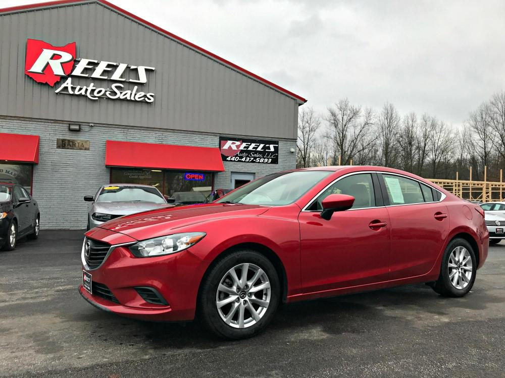 2016 Red /Tan Mazda Mazda6 i Sport (JM1GJ1U52G1) with an 2.5L L4 DOHC 16V engine, Automatic transmission, located at 547 E. Main St., Orwell, OH, 44076, (440) 437-5893, 41.535435, -80.847855 - Photo #0