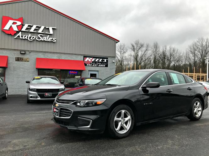 2017 Black /Black Chevrolet Malibu 1FL (1G1ZC5ST0HF) with an 1.5L L4 DOHC 16V engine, Automatic transmission, located at 547 E. Main St., Orwell, OH, 44076, (440) 437-5893, 41.535435, -80.847855 - Photo #0