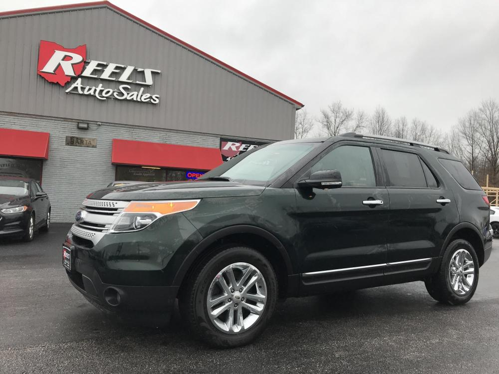 2013 /Tan Ford Explorer XLT 4WD (1FM5K8D88DG) with an 3.5L V6 DOHC 24V engine, 6-Speed Automatic transmission, located at 547 E. Main St., Orwell, OH, 44076, (440) 437-5893, 41.535435, -80.847855 - Photo #0