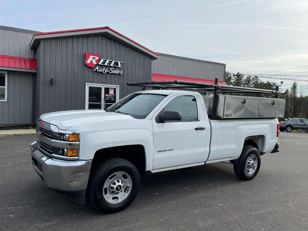 2015 White /Gray Chevrolet Silverado 2500HD Work Truck Long Box 2WD (1GC0CUEGXFZ) with an 6.0L V8 OHV 16V FFV engine, 6-Speed Automatic transmission, located at 547 E. Main St., Orwell, OH, 44076, (440) 437-5893, 41.535435, -80.847855 - Photo #0