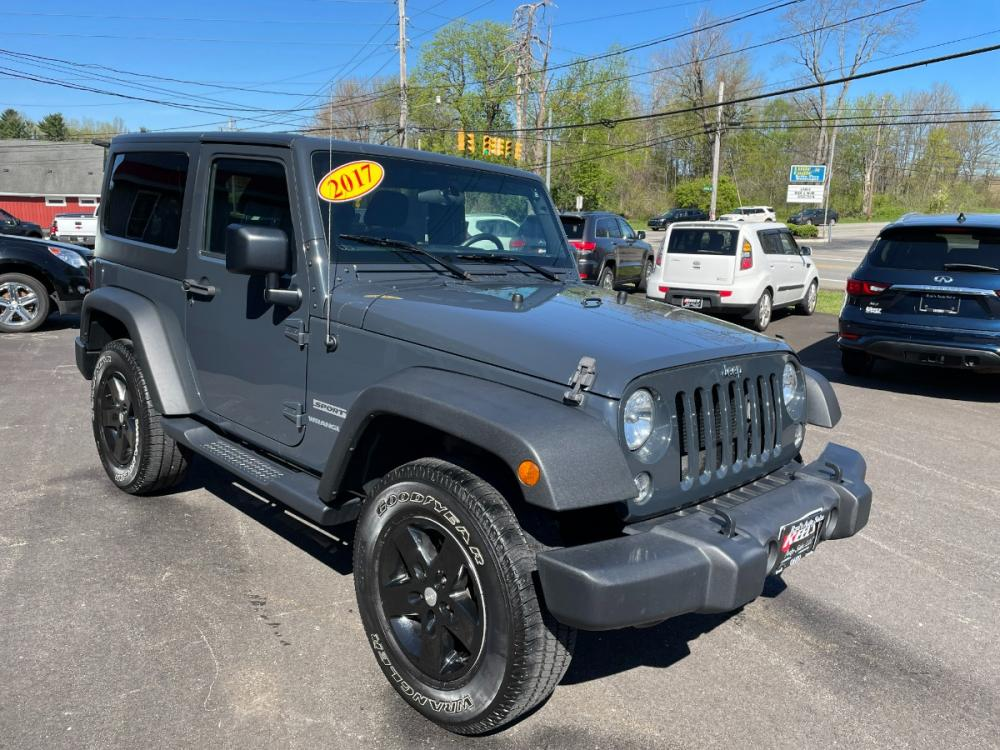 2017 Gray /Black Jeep Wrangler Sport 4WD (1C4AJWAG4HL) with an 3.6L V6 DOHC 24V FFV engine, Automatic transmission, located at 11115 Chardon Rd. , Chardon, OH, 44024, (440) 214-9705, 41.580246, -81.241943 - Photo #0